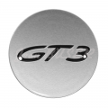Concave wheel hub cap with GT3 logo