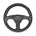 3 spoke steering wheel with stiched black leather finish for 911 (74-89)