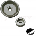 Aluminum rotary door knob kit, 3 pieces, 911 (85-89) + 964 + 993