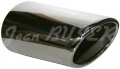 Stainless steel exhaust muffler tip for 911 with a 964/964 Turbo/993 look, to be welded
