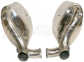 Pair of sport stainless steel exhaust mufflers for 993 Turbo (94-97) 60mm