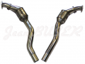 Pair of stainless steel Sport catalytic converters for Porsche 996 with 100 cells each