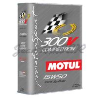 MOTUL « Competition » 300V 15W50 100 % synthetic motor oil, 2 L canister